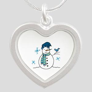 Winter Snowman Necklaces