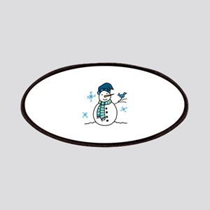 Winter Snowman Patches