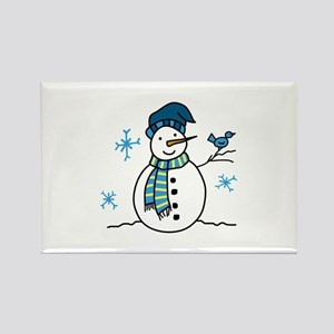Winter Snowman Magnets