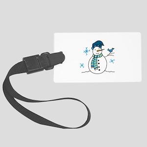 Winter Snowman Luggage Tag