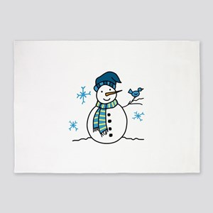 Winter Snowman 5'x7'Area Rug