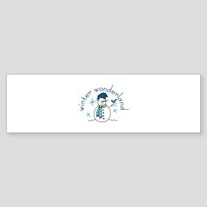 Winter Wonderland Bumper Sticker