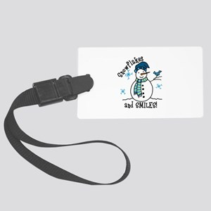 Snowflakes And Smiles Luggage Tag