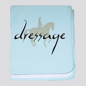 Dressage Silhouette Text baby blanket