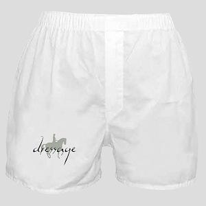 Dressage Silhouette Text Boxer Shorts