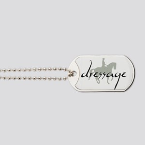 Dressage Silhouette Text Dog Tags