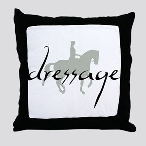 Dressage Silhouette Text Throw Pillow