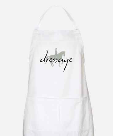 Dressage Silhouette Text Apron