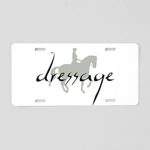 Dressage Silhouette Text Aluminum License Plate