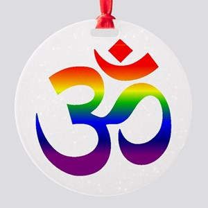 big rainbow om Ornament