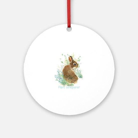 Plant Whisperer Fun Gardening Quote Cute Bunny Rab