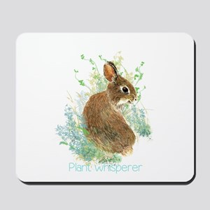 Plant Whisperer Fun Gardening Quote Cute Bunny Rab