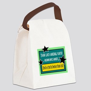 Running Bases Canvas Lunch Bag
