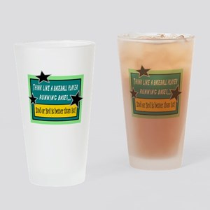 Running Bases Drinking Glass