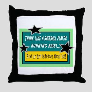 Running Bases Throw Pillow