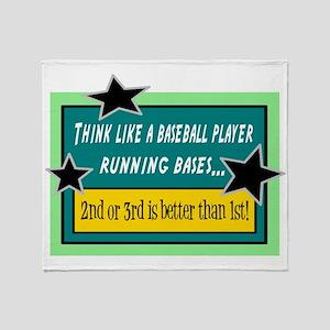 Running Bases Throw Blanket