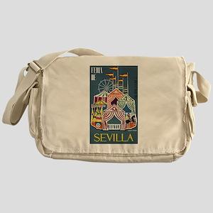 Spain 1960 Seville Festival Poster Messenger Bag