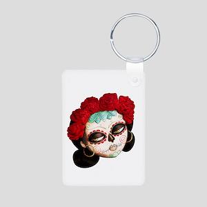 El Dia de Los Muertos Girl Keychains