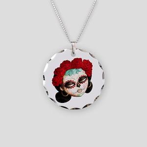 El Dia de Los Muertos Girl Necklace