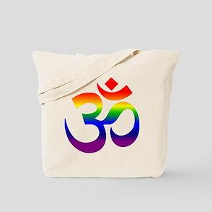 big rainbow om Tote Bag