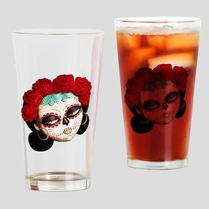 El Dia de Los Muertos Girl Drinking Glass