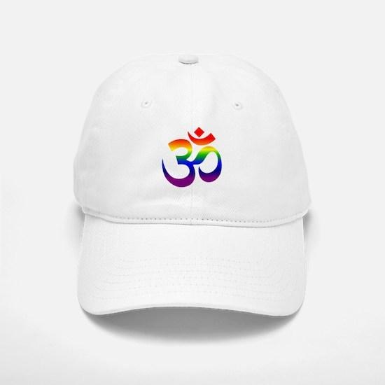 big rainbow om Baseball Baseball Baseball Cap