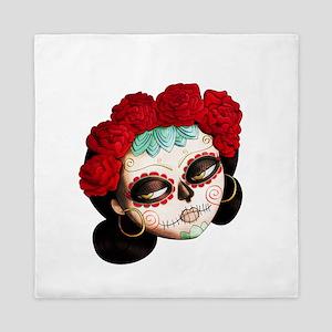 El Dia de Los Muertos Girl Queen Duvet