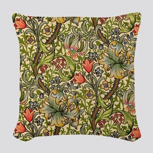 William Morris Golden Lily Woven Throw Pillow