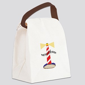Meet Me At The Ocean Canvas Lunch Bag