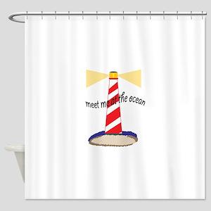 Meet Me At The Ocean Shower Curtain