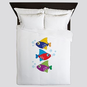 Colorful Fish Queen Duvet
