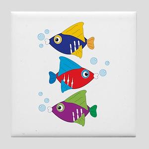 Colorful Fish Tile Coaster
