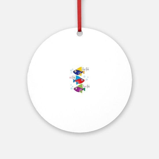 Blue Fish,Red Fish &Three Fish Ornament (Round)