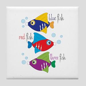Blue Fish,Red Fish &Three Fish Tile Coaster