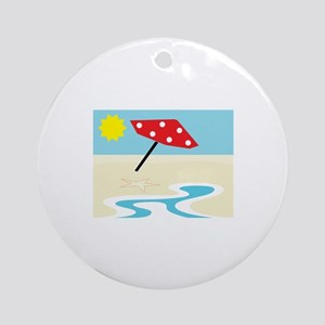 Beach Front Ornament (Round)