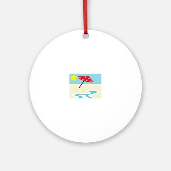 Beach Front Ornament (Round)
