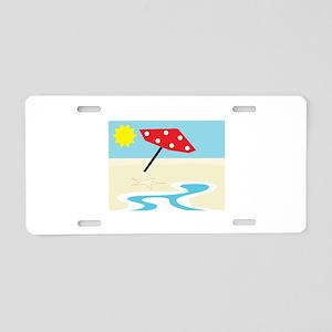 Beach Front Aluminum License Plate