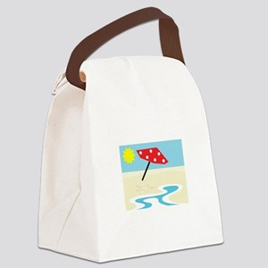 Beach Front Canvas Lunch Bag
