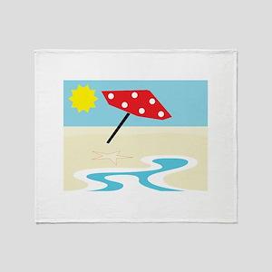 Beach Front Throw Blanket
