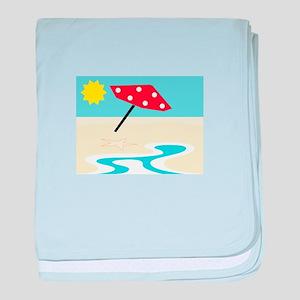 Beach Front baby blanket