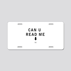 Can U Read Me - Krav Maga Aluminum License Plate