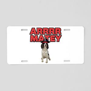 Pirate Springer Spaniel Aluminum License Plate