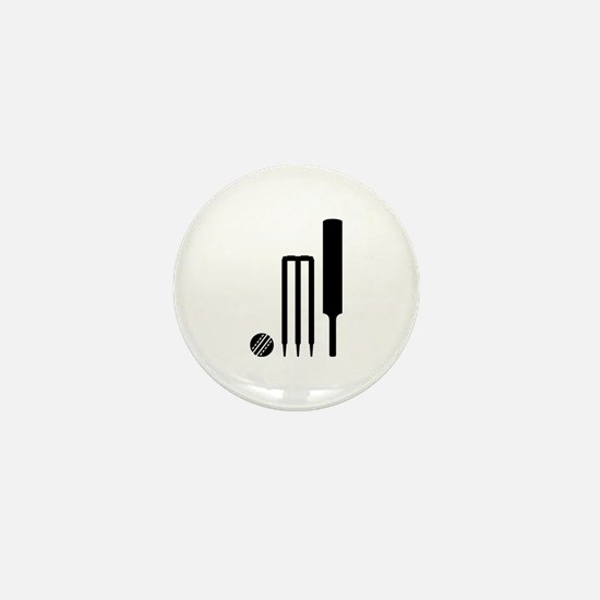 Cricket ball bat stumps Mini Button