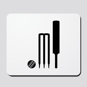 Cricket ball bat stumps Mousepad