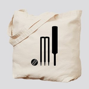 Cricket ball bat stumps Tote Bag