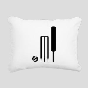 Cricket ball bat stumps Rectangular Canvas Pillow