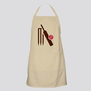 Cricket bat stumps Apron