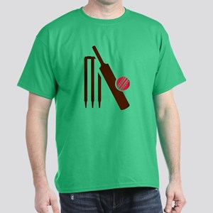 Cricket bat stumps Dark T-Shirt