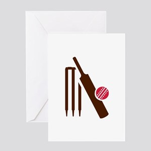 Cricket bat stumps Greeting Card