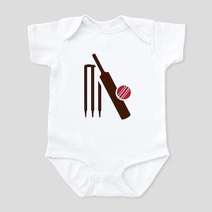 Cricket bat stumps Infant Bodysuit
